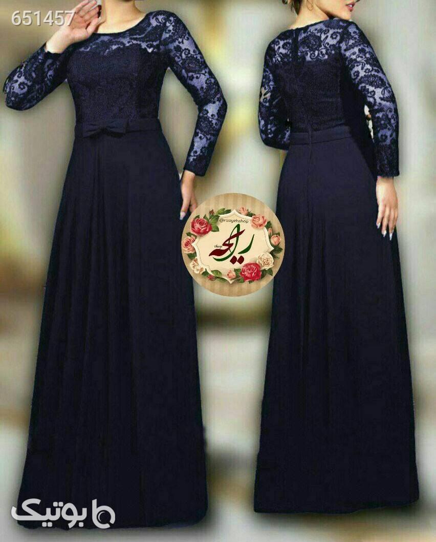 لباس مجلسی مدل سولماز سورمه ای لباس  مجلسی