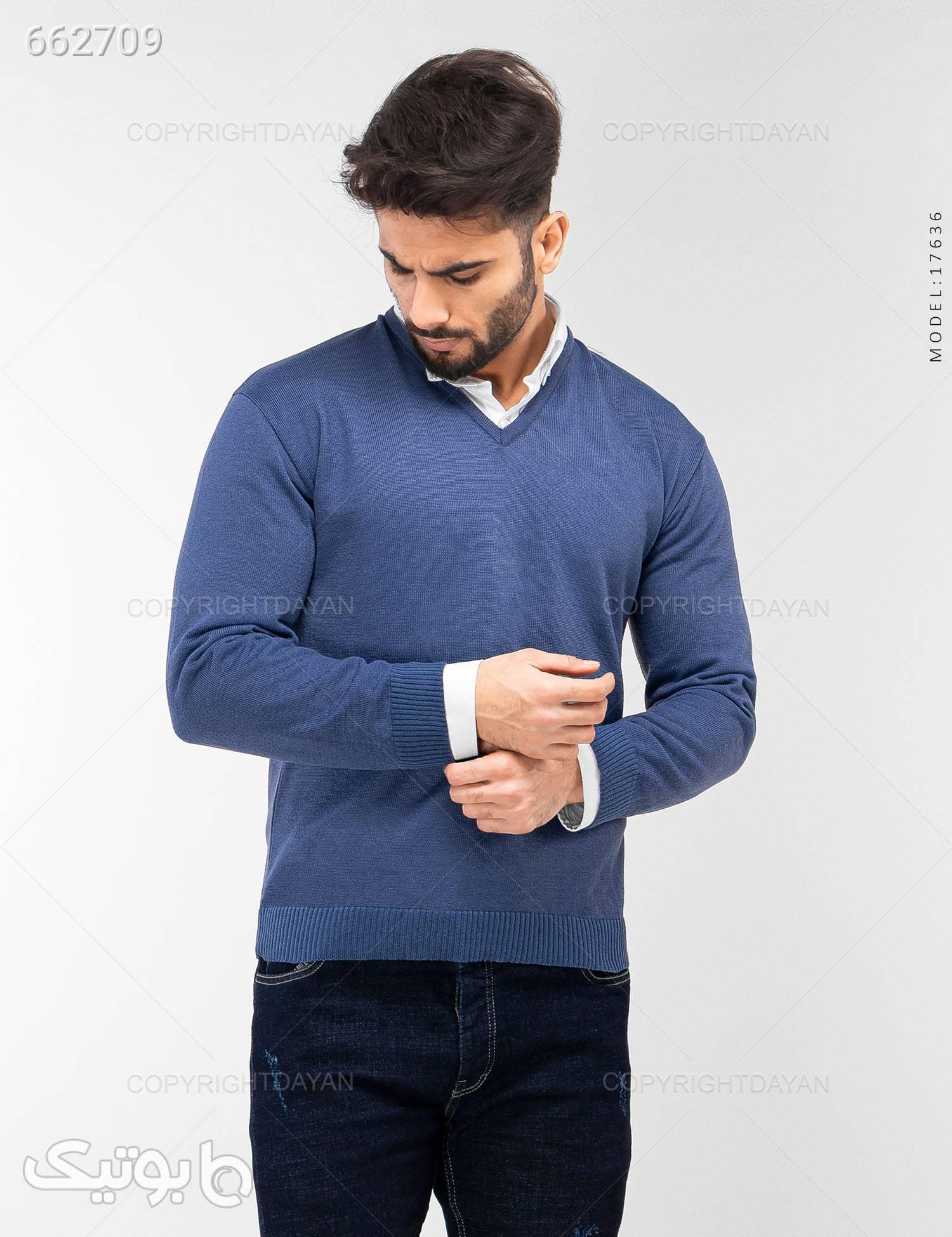 بافت مردانه مدل B7636 آبی پليور و ژاکت مردانه