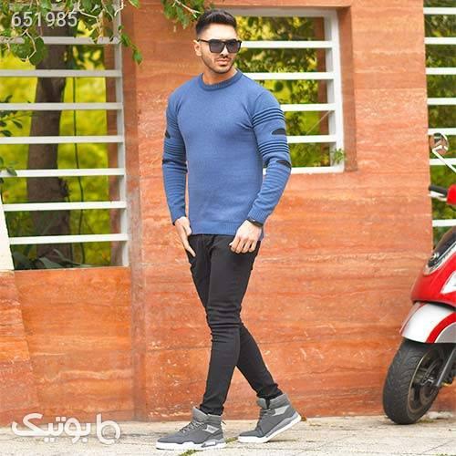 پليور بافت مردانه مدل Nariman آبی پليور و ژاکت مردانه