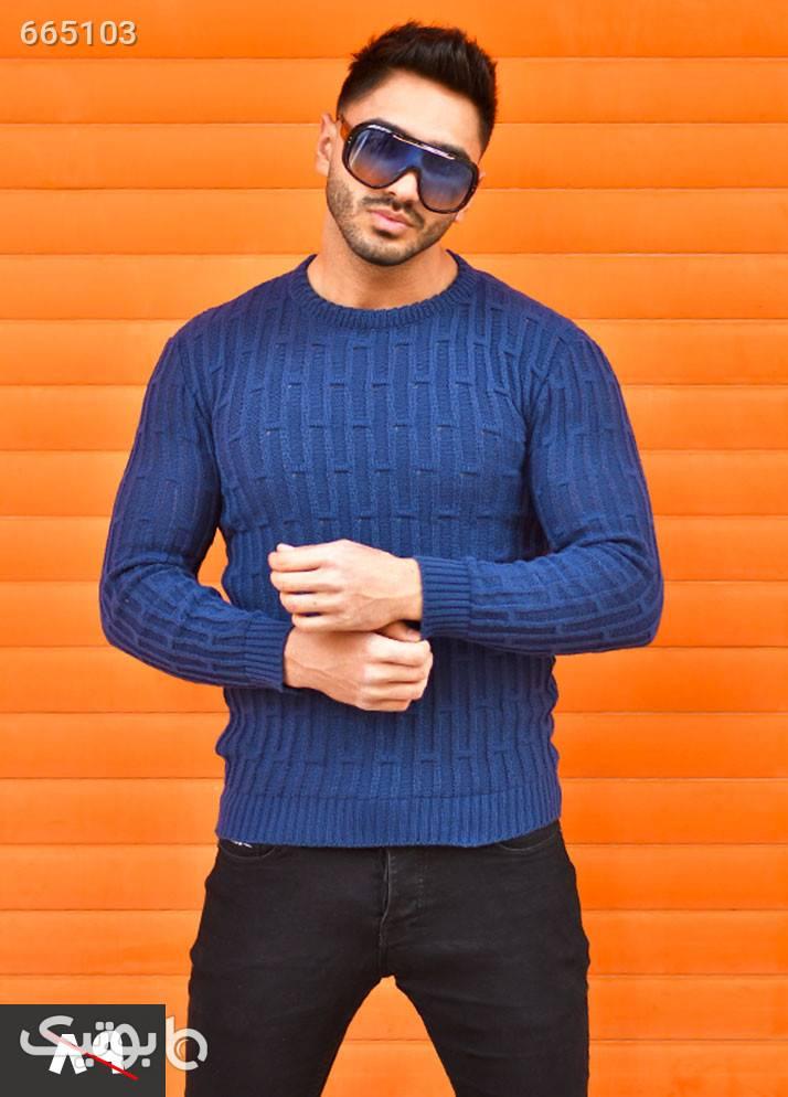 پليور بافت مردانه مدل Bashvan  سورمه ای پليور و ژاکت مردانه
