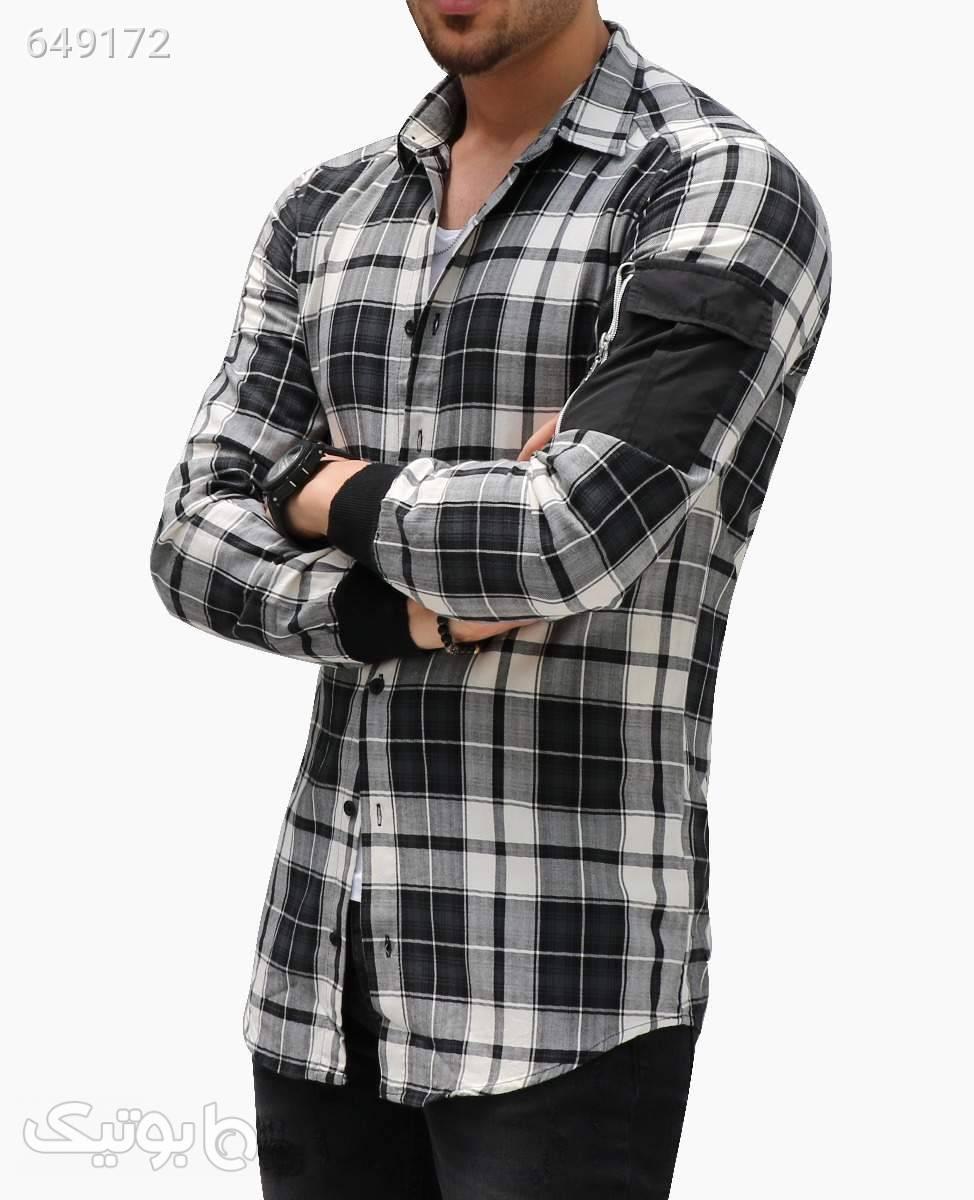 پیراهن لانگ چهارخانه مردانه 2Y Premium کد 7519BlackS مشکی پيراهن مردانه
