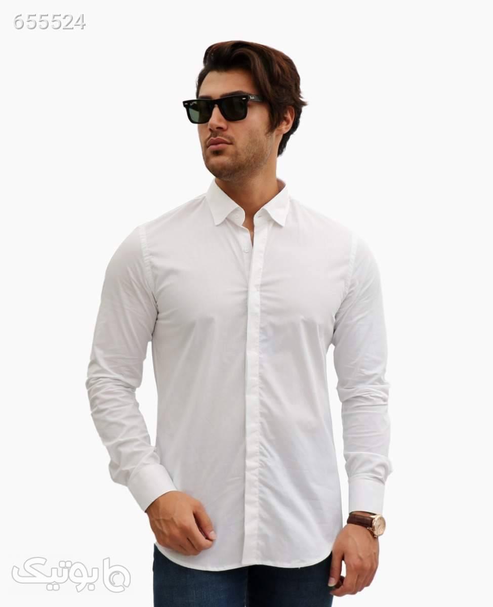 پیراهن مردانه Hermes کد 6134WhiteXXL سفید پيراهن مردانه