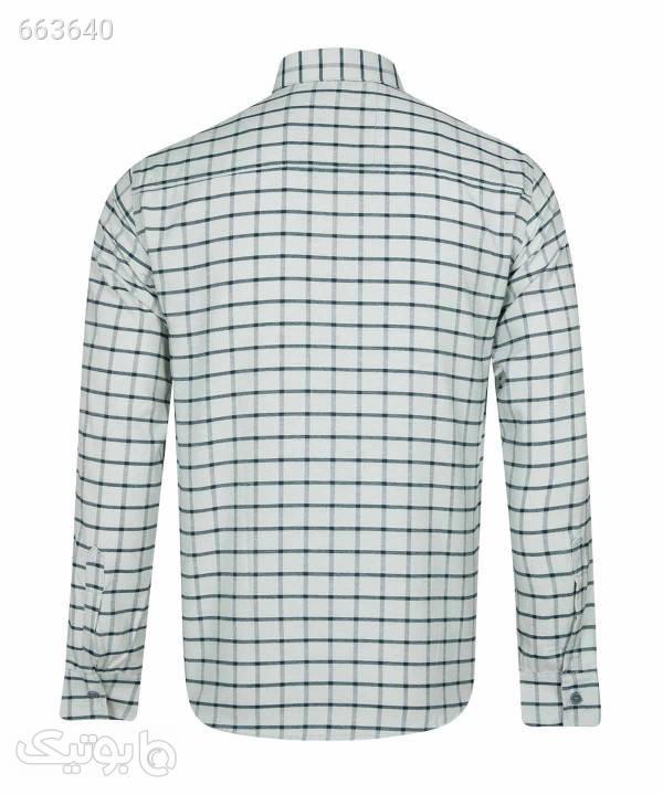 پیراهن چهارخانه مردانه بالون Ballon کد 99085516 سفید پيراهن مردانه