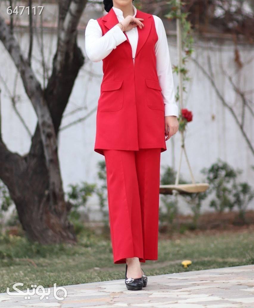 سارافون شلوار مدل آرد زرشکی پيراهن و سارافون زنانه