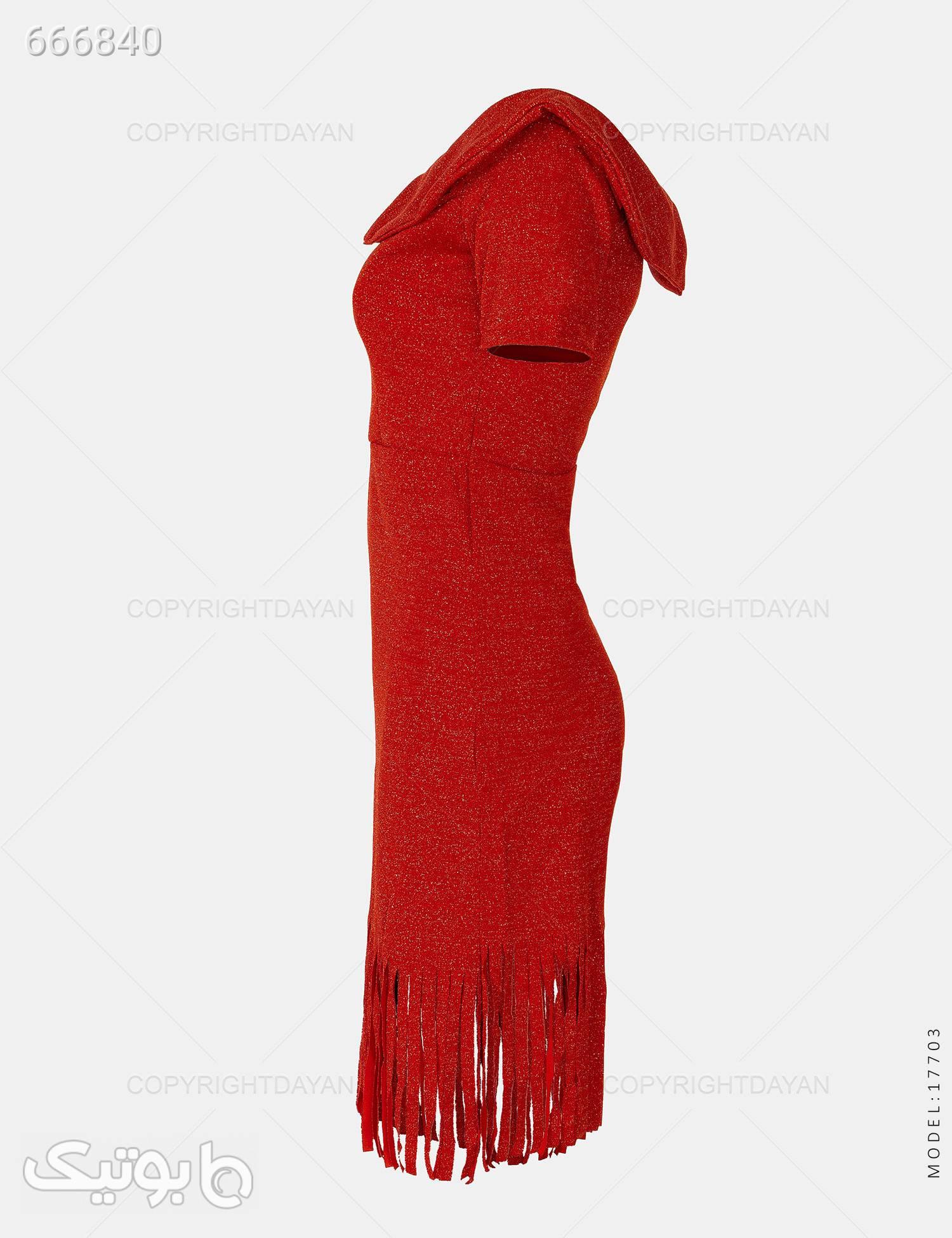 پیراهن زنانه Nika مدل 17703 قرمز پيراهن و سارافون زنانه