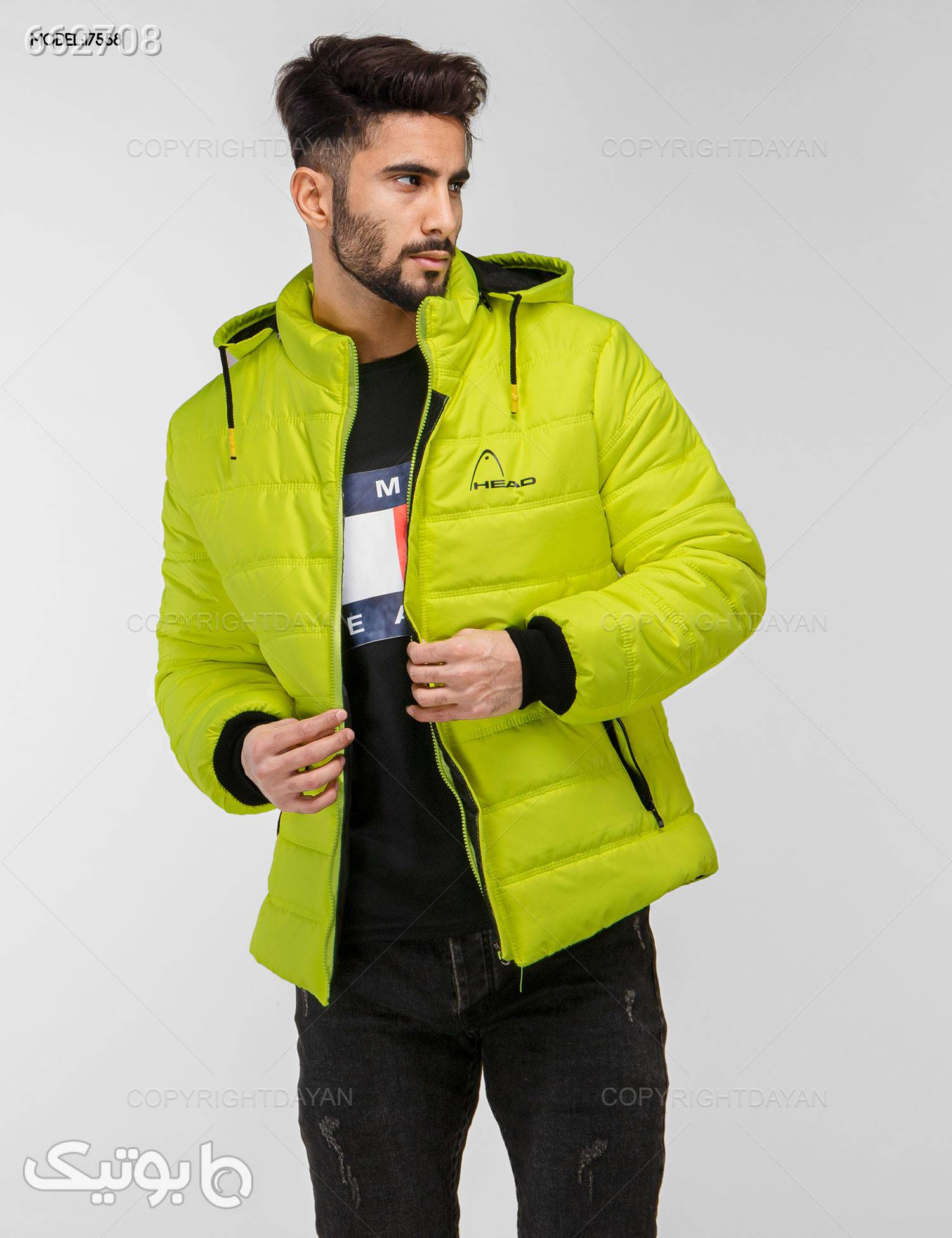 کاپشن مردانه مدل C7558 سبز کاپشن و بارانی مردانه