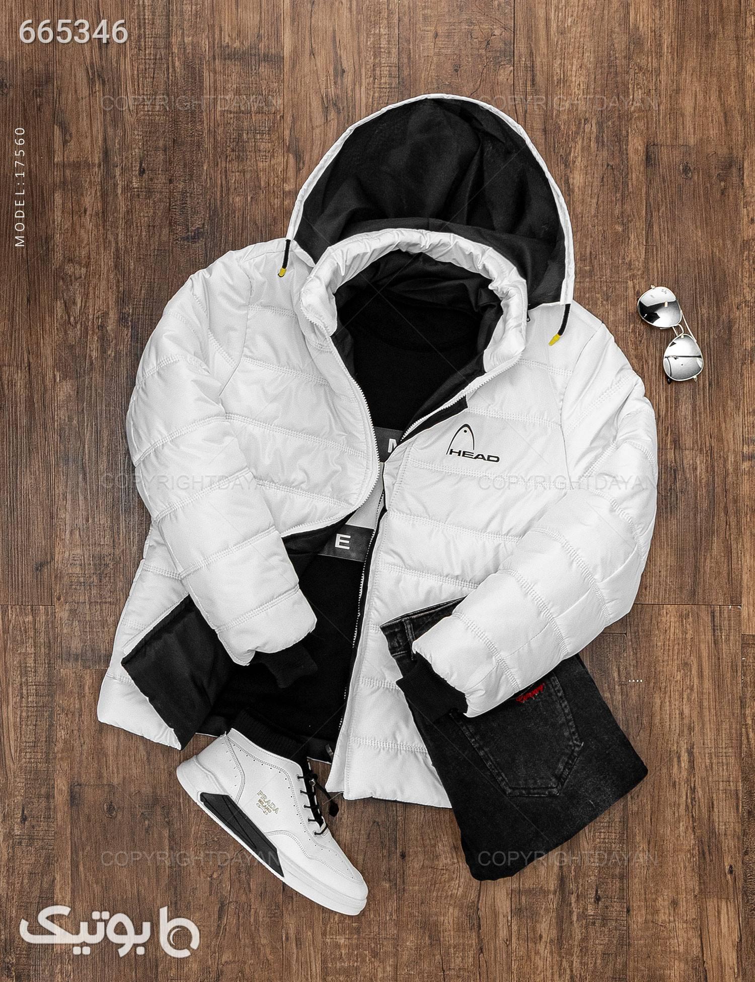 کاپشن مردانه Araz مدل 17560 سفید کاپشن و بارانی مردانه