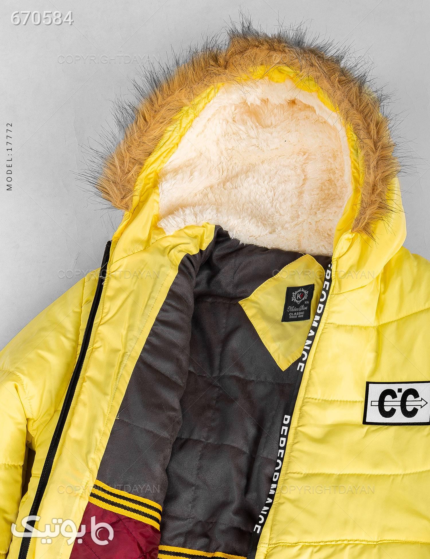 کاپشن پشم شیشه مردانه Tommy مدل 17772 زرد کاپشن و بارانی مردانه
