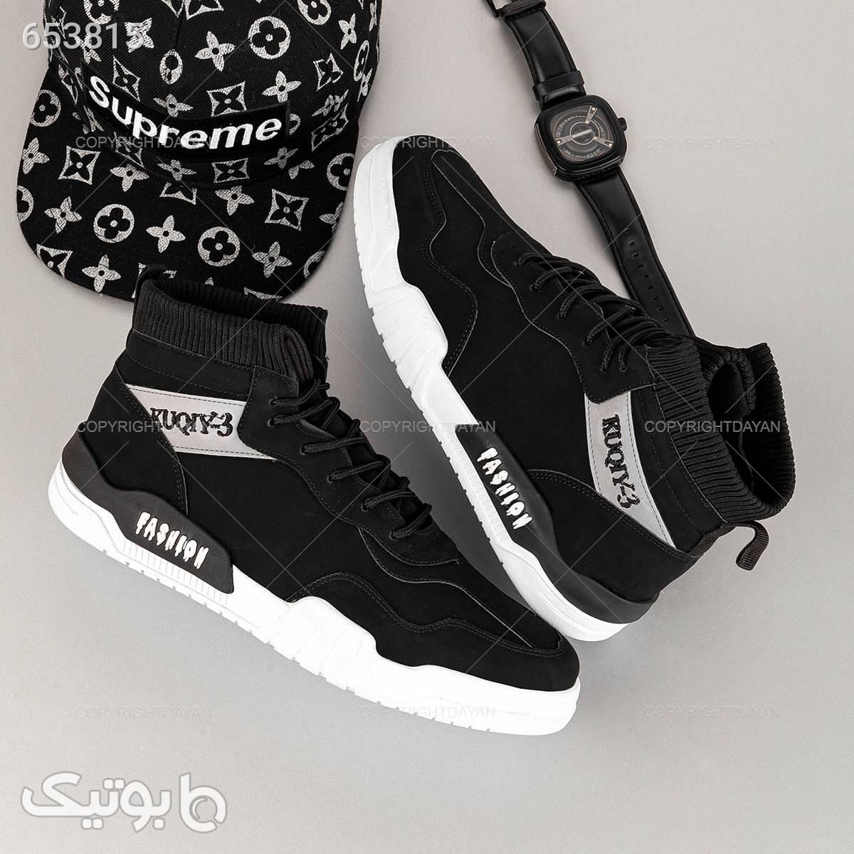 کفش ساقدار مردانه Fashion مدل 16720 مشکی كتانی مردانه