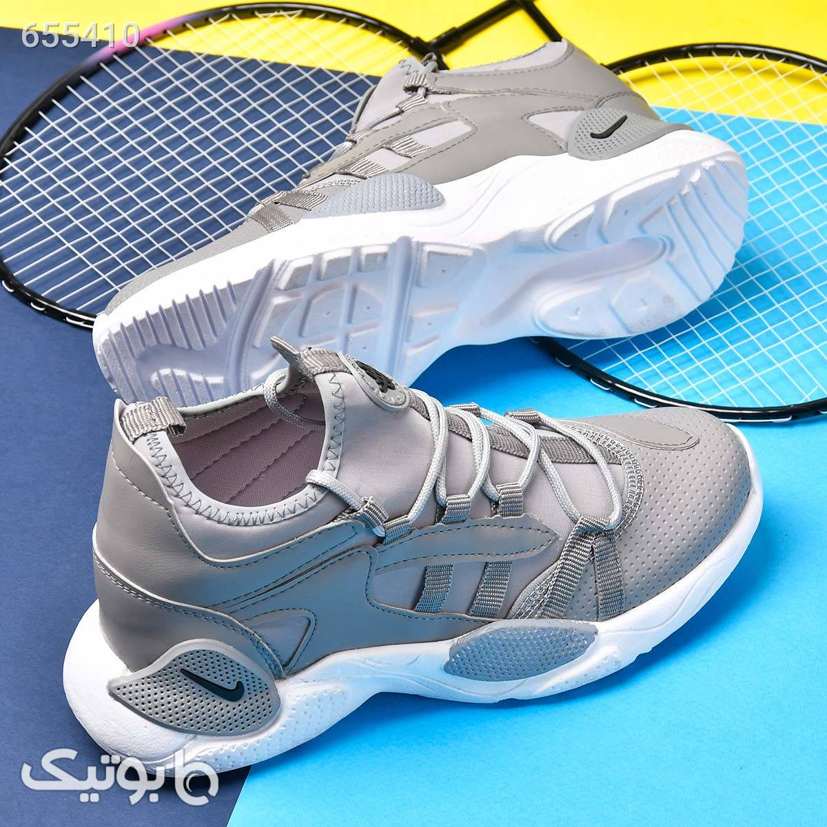 کفش مردانه هوراچی ساقدار zal نقره ای كتانی مردانه