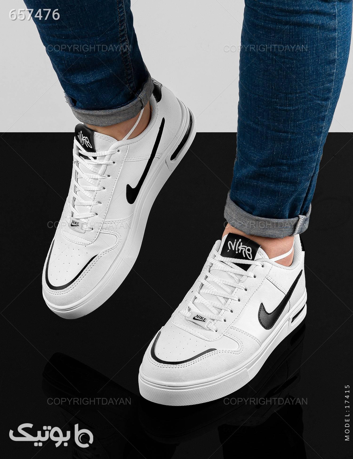 کفش ورزشی مردانه Nikeمدل 17415 سفید كتانی مردانه
