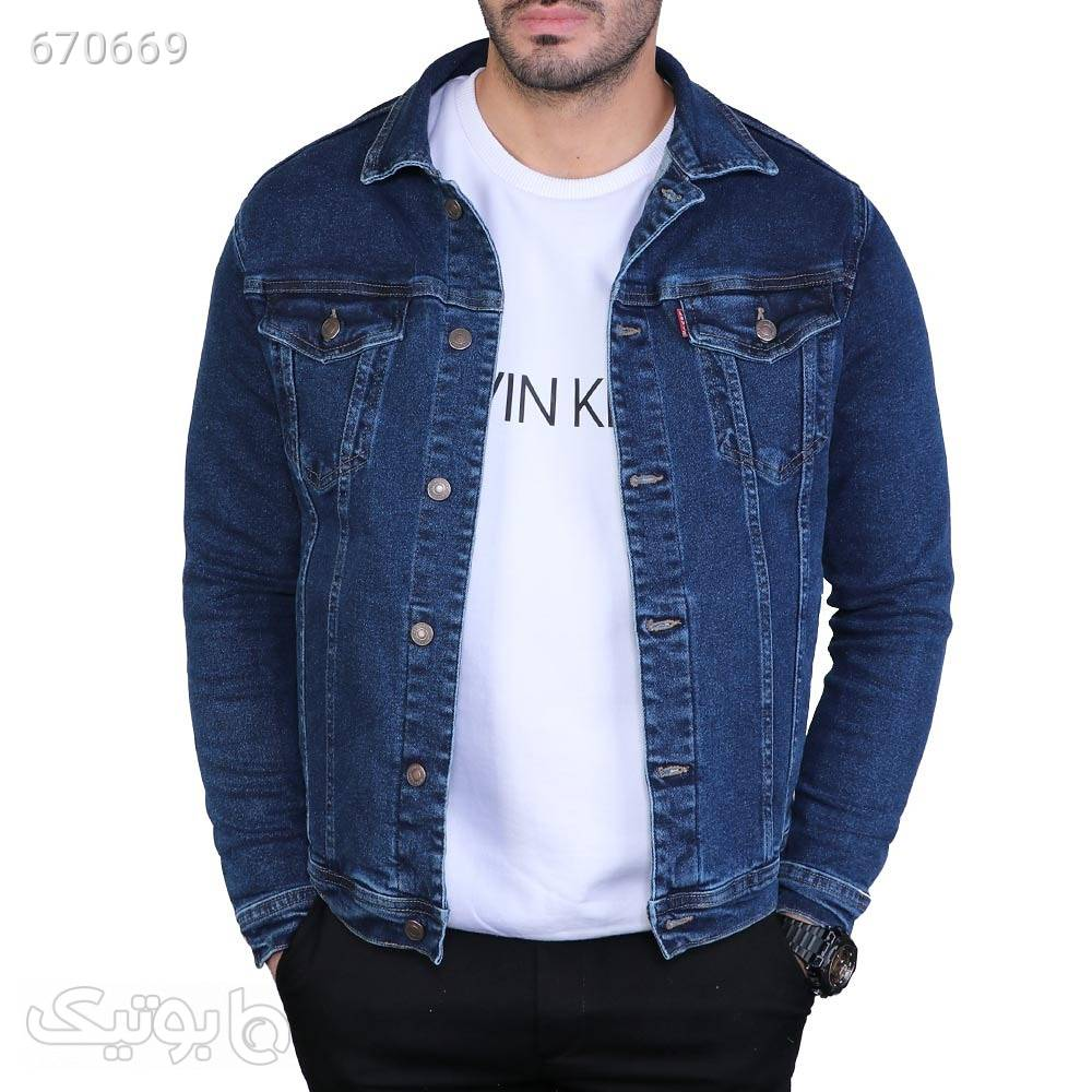 کت جین مردانه سورمه ای كت تک