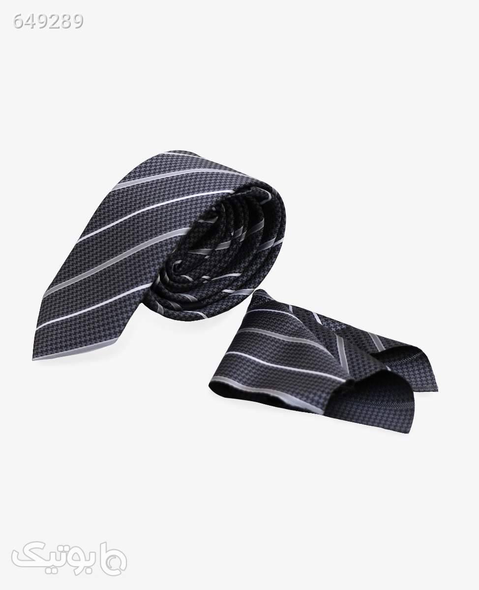 ست کراوات و پوشت طرح دار کد 2930DimGray كراوات و پاپيون