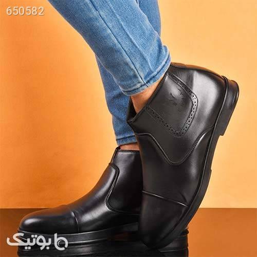 كفش ساقدار زيپدار مردانه مدل Bashok مشکی كفش مردانه