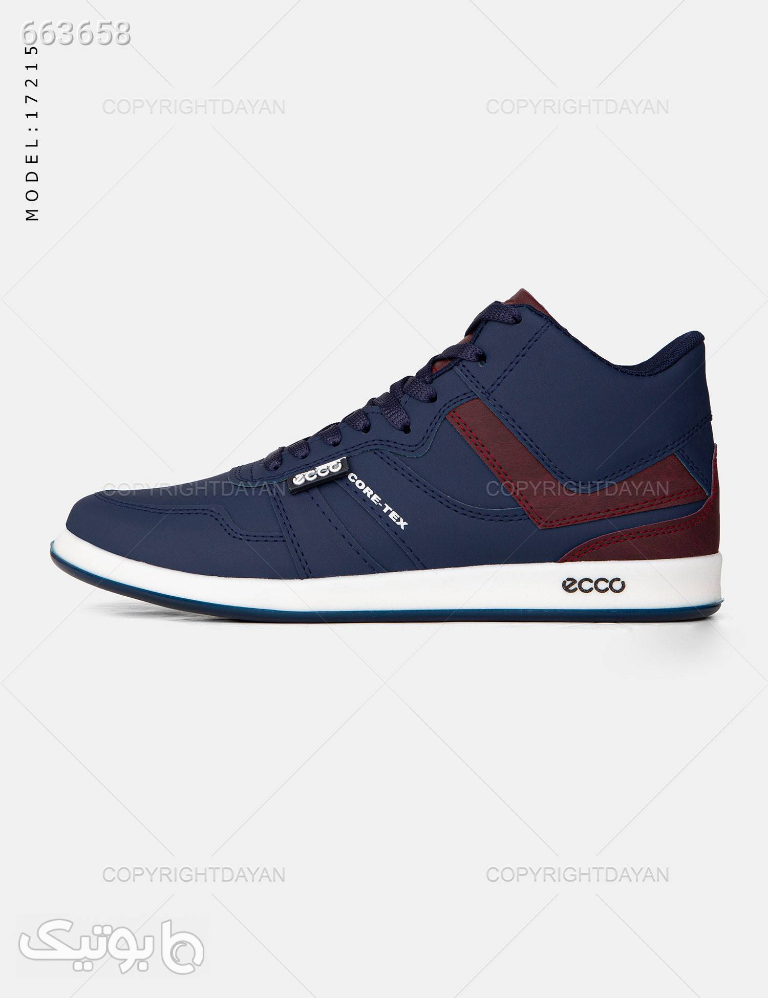 کفش ساقدار مردانه Ecco مدل 17215 سورمه ای كفش مردانه