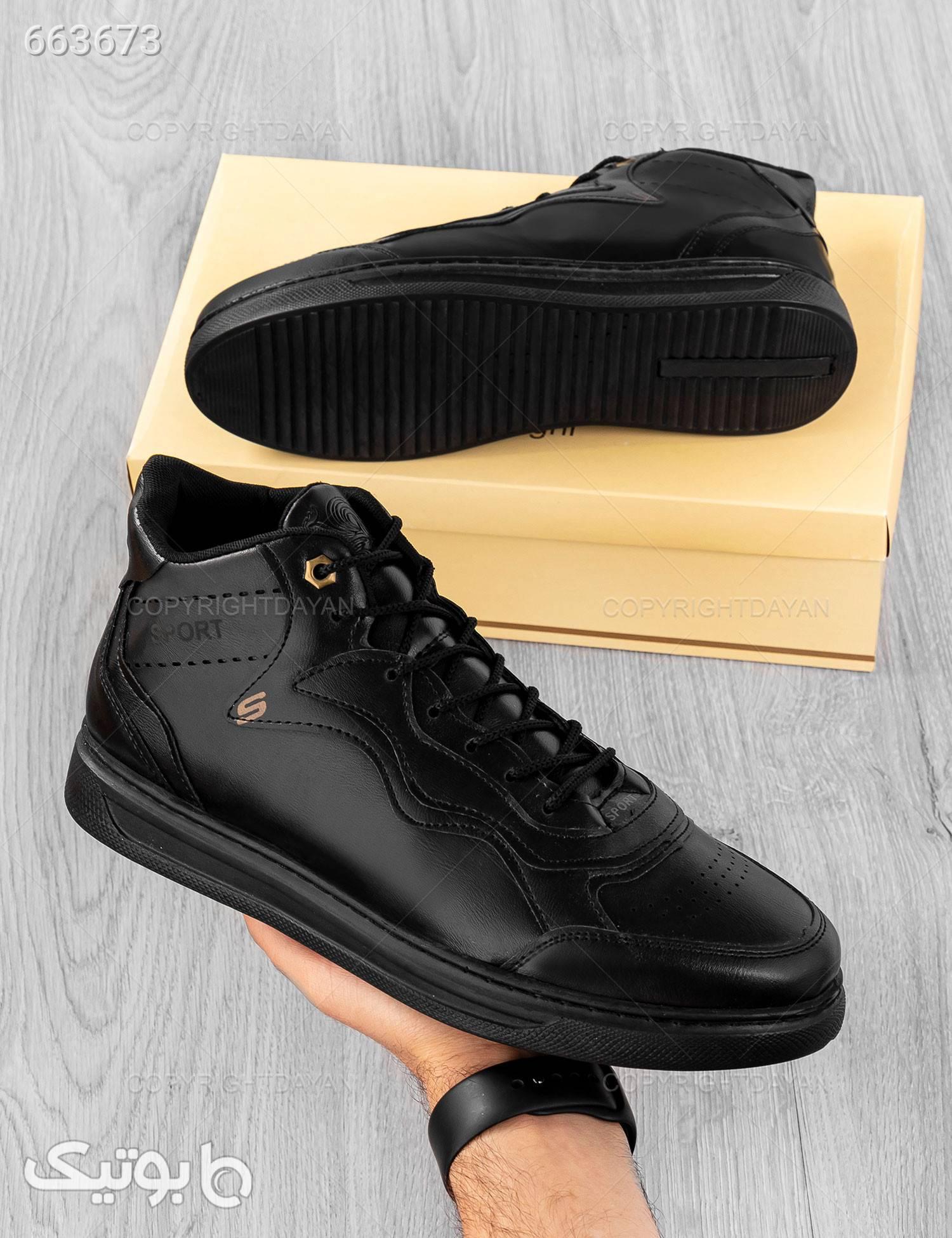 کفش ساقدار مردانه Enzo مدل 16148 مشکی كفش مردانه