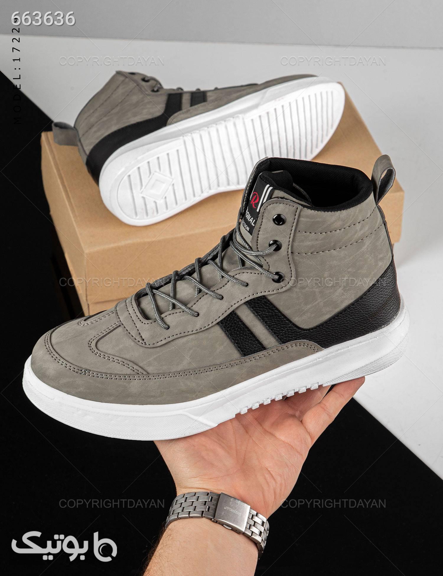 کفش ساقدار مردانه Marlon مدل 17229 طوسی كفش مردانه