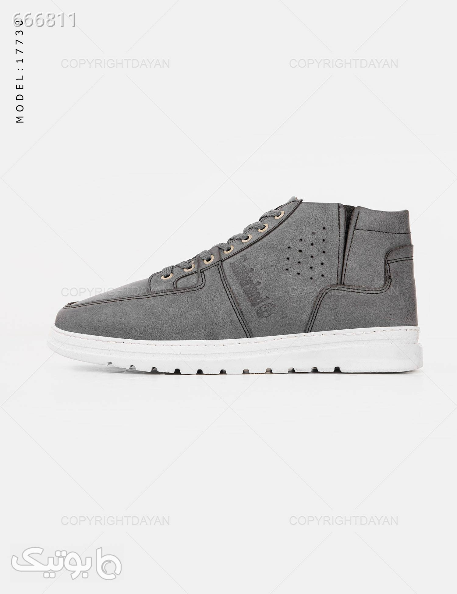 کفش ساقدار مردانه Timberland مدل 17738 طوسی كفش مردانه