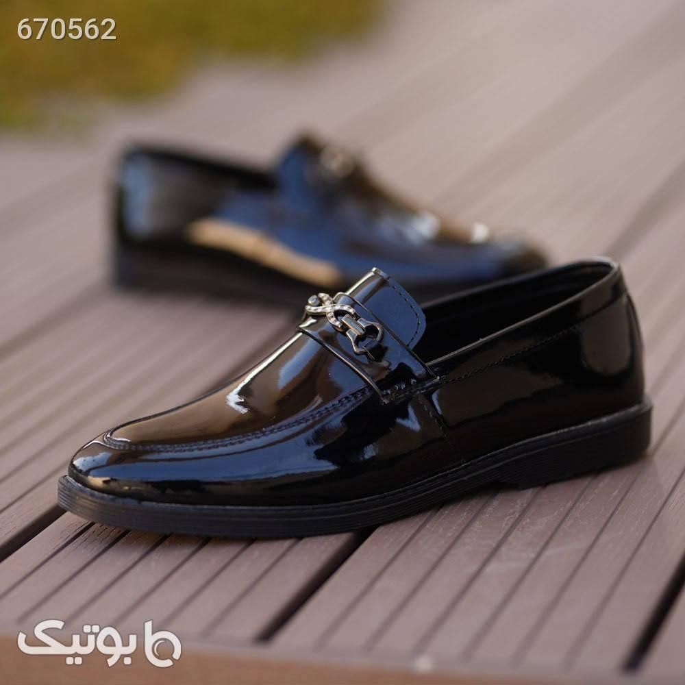 کفش مجلسی مردانه مدل Target مشکی كفش مردانه