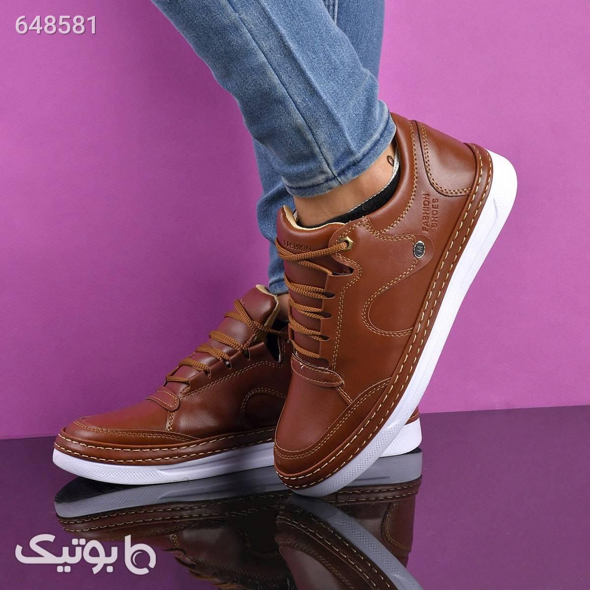 کفش مردانه طرح چرم isatis قهوه ای كفش مردانه