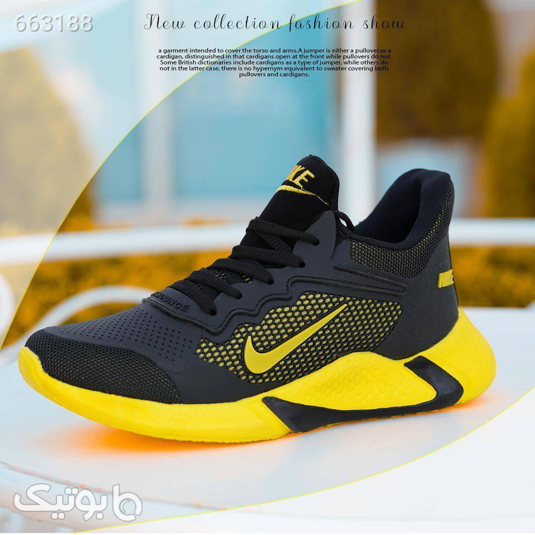 کفش مردانه نایک  زرد كتانی مردانه