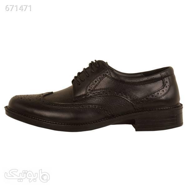 کفش مردانه پارینه چرم مدل SHO177 مشکی كفش مردانه