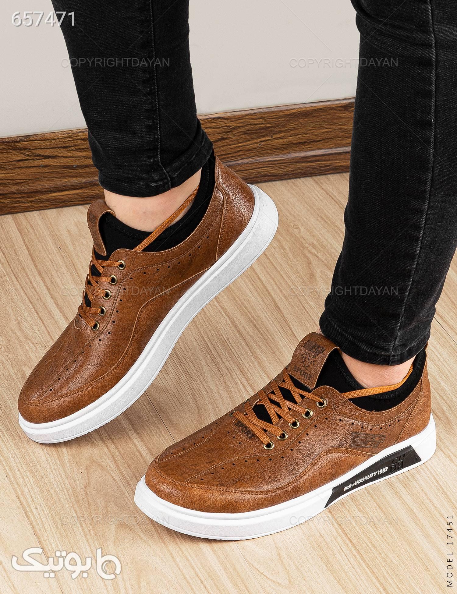 کفش مردانه Carlo مدل 17451 قهوه ای كفش مردانه