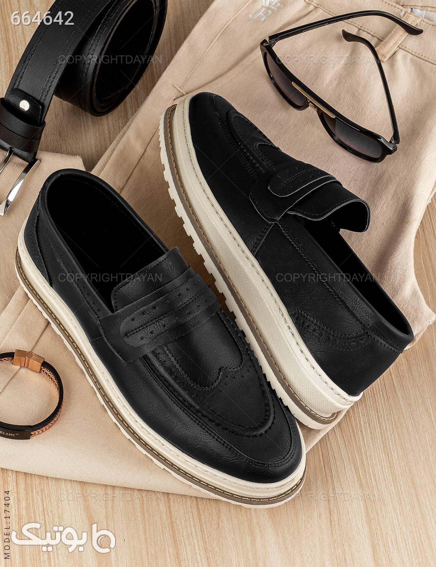 کفش مردانه Mason مدل 17404 مشکی كفش مردانه