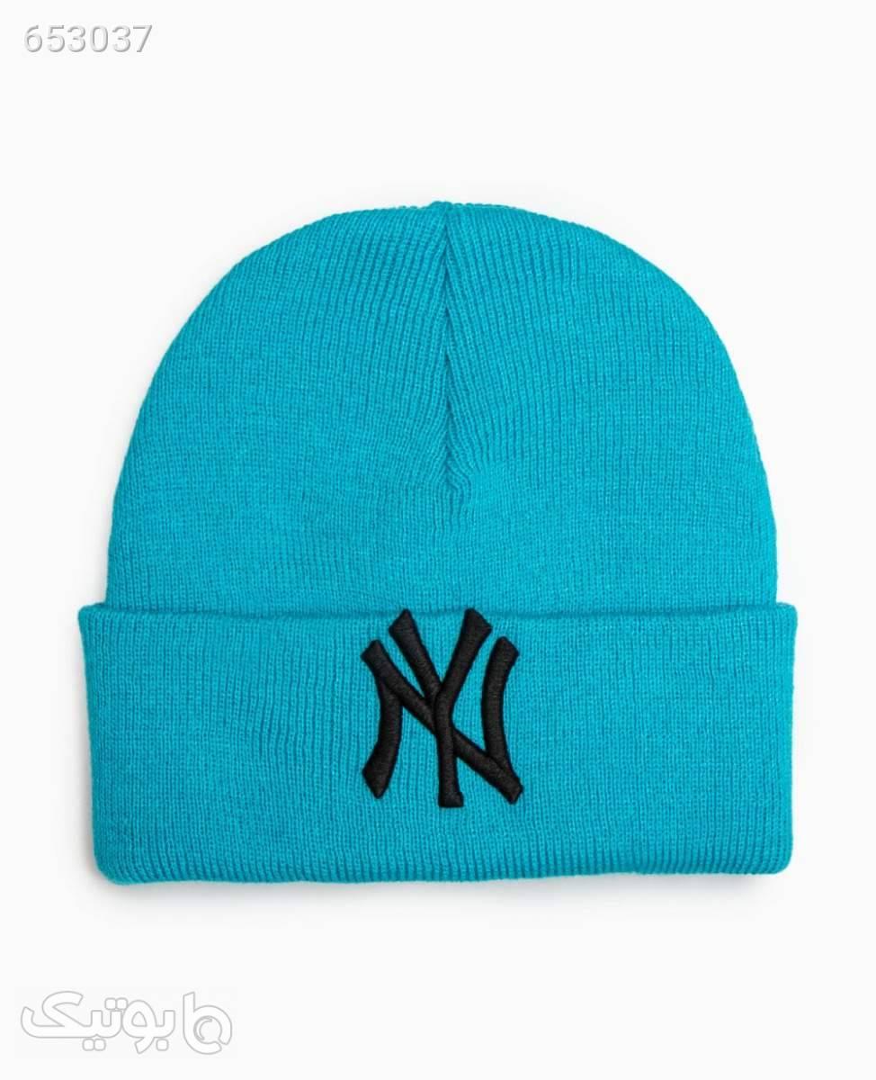 کلاه بافت زمستانی NY کد 5753LightBlue کلاه بافت و شال گردن و دستکش