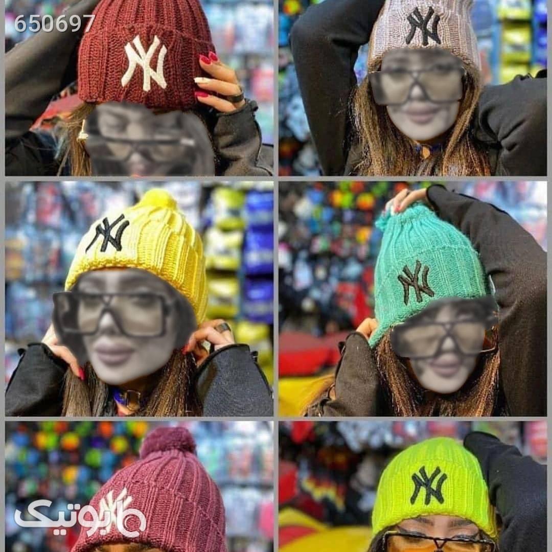 کلاه بافت سبز کلاه بافت و شال گردن و دستکش
