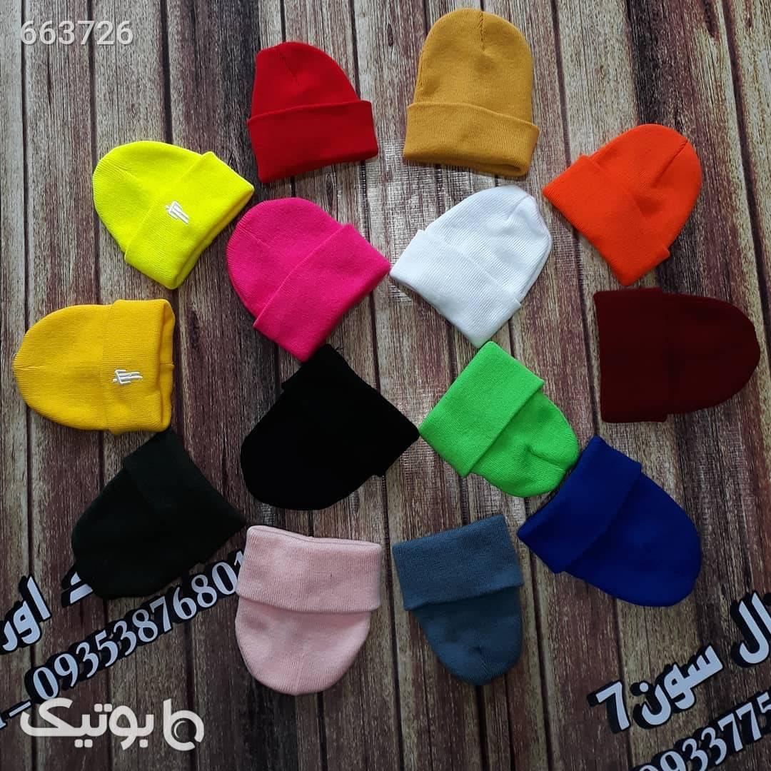 کلاه زمستونی قرمز کلاه بافت و شال گردن و دستکش