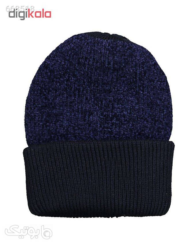 کلاه کد 97 سورمه ای کلاه بافت و شال گردن و دستکش