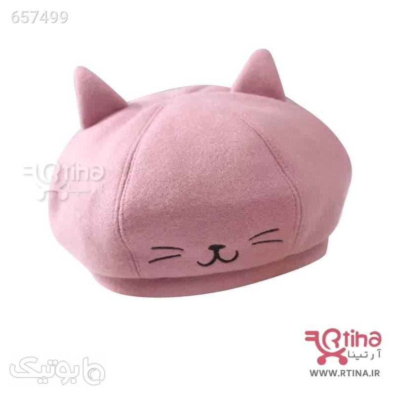 کلاه برت بچه گانه دختر و پسر مدل kitti صورتی کلاه و اسکارف