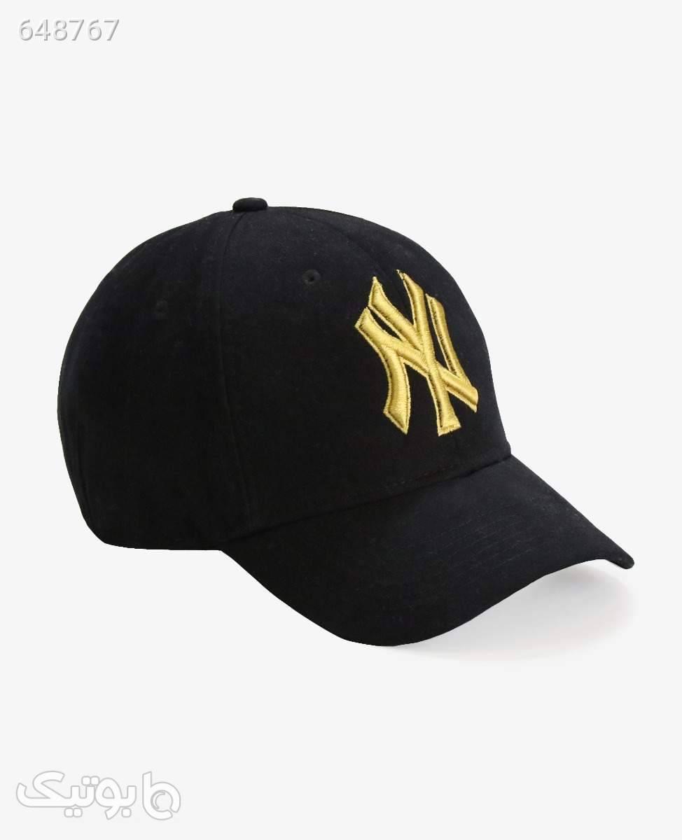 کلاه لبه گرد NY کد 7150Black مشکی کلاه و اسکارف
