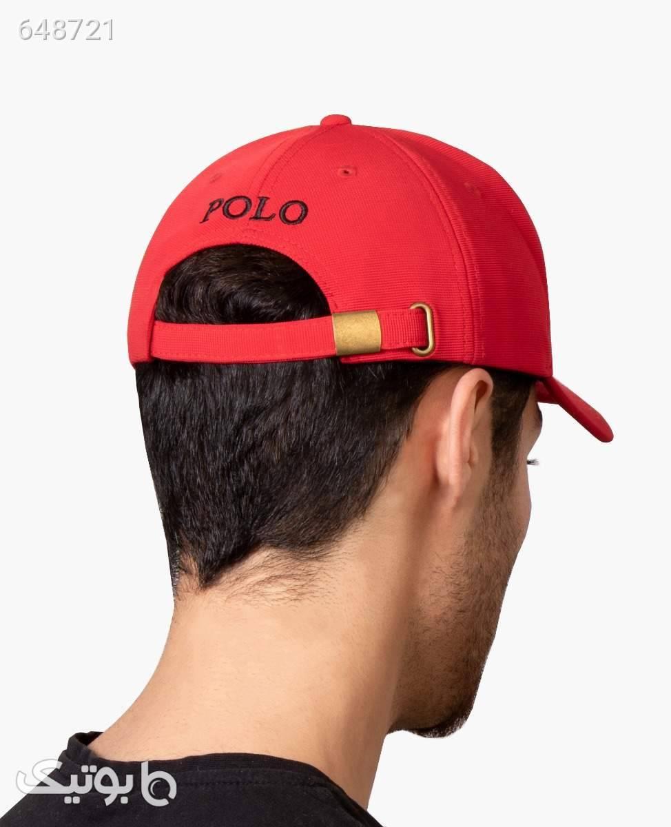 کلاه لبه گرد POLO کد 1258Red قرمز کلاه و اسکارف