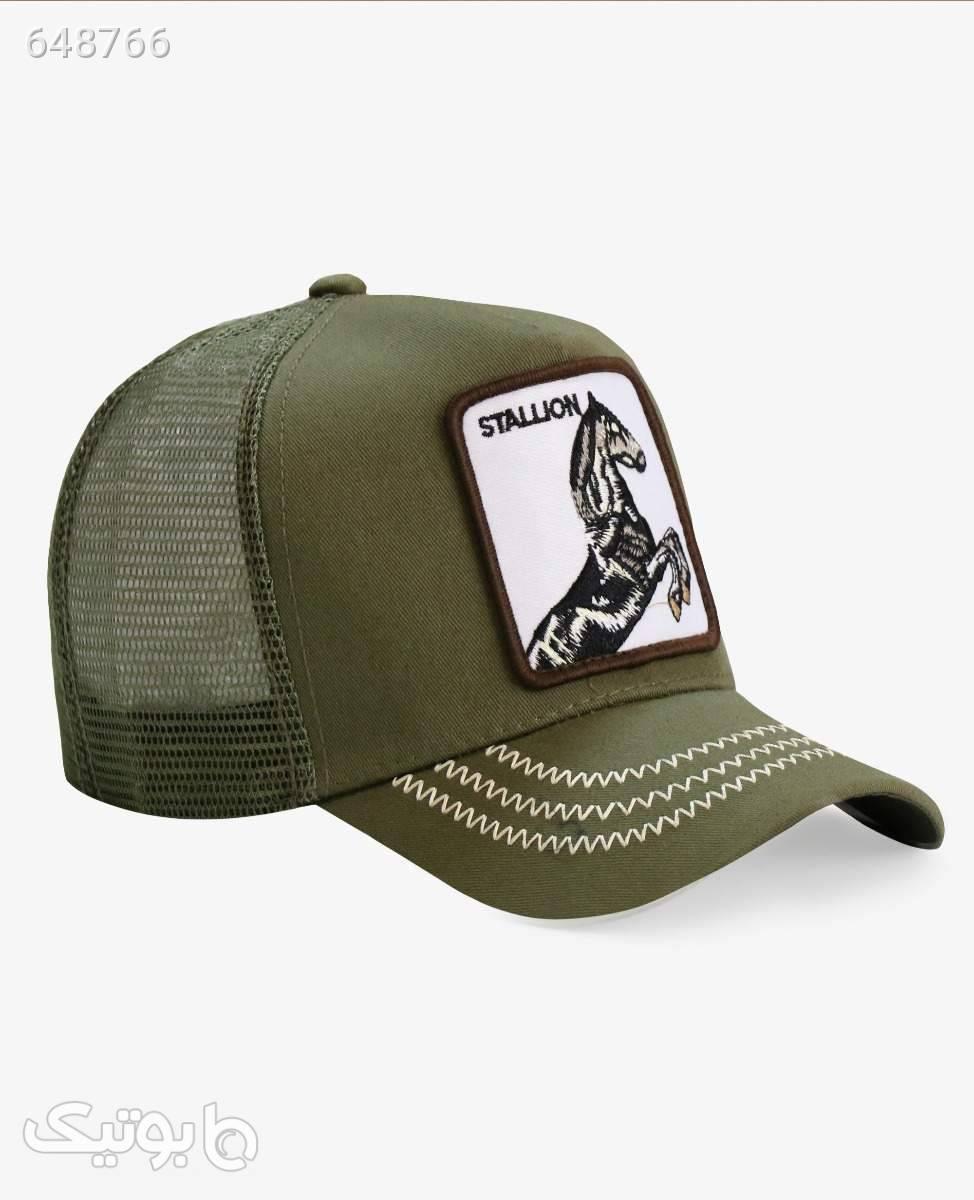 کلاه لبه گرد Stallion کد 3407Green سبز کلاه و اسکارف