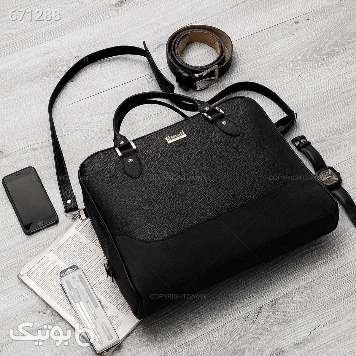 کیف اداری Gucci مدل 17086   مشکی کیف اداری