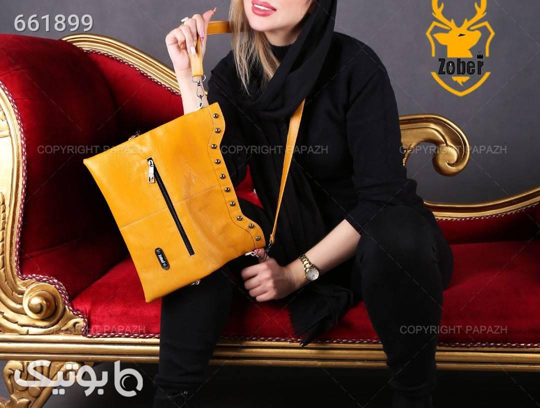 کیف دوکاره زنانه ZOBER مدل 7424 طلایی كيف زنانه