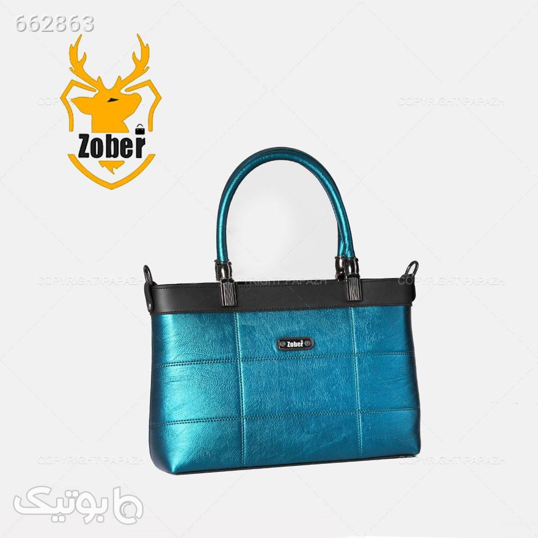 کیف زنانه چرم آبی ZOBER آبی كيف زنانه