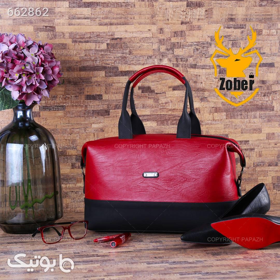 کیف زنانه چرم مشکی و قرمز ZOBER قرمز كيف زنانه