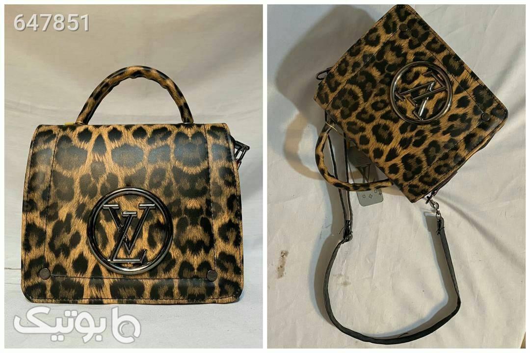 کیف پلنگی زنانه طلایی كيف زنانه