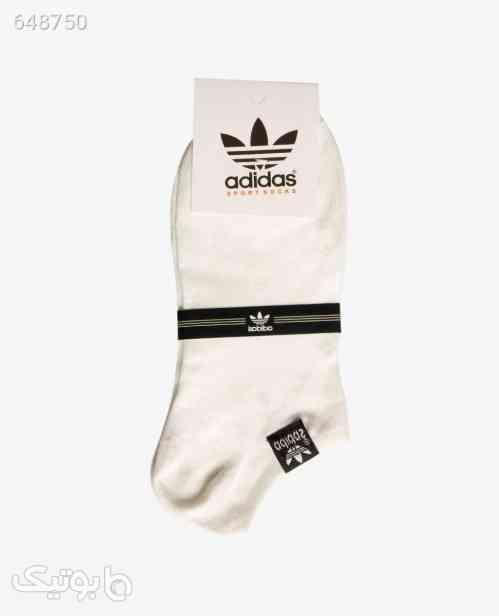 جوراب ساق کوتاه adidas کد 6195White سفید 99 2020