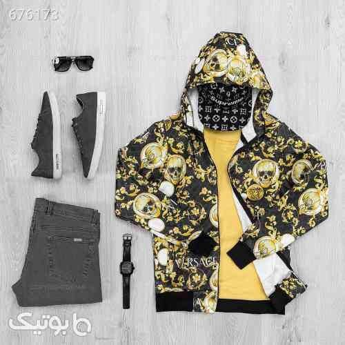 سویشرت مردانه Versace مدل 17462 زرد 99 2020