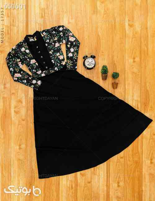 پیراهن زنانه Sevin مدل 17357 مشکی 99 2020