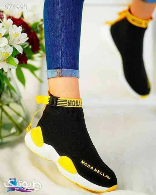 کفش جورابی دخترانه جدید مشکی 99 2020