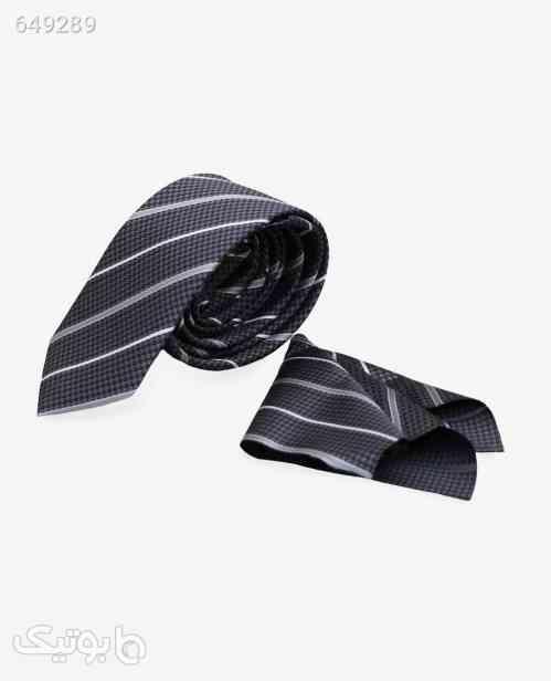 ست کراوات و پوشت طرح دار کد 2930DimGray 99 2020