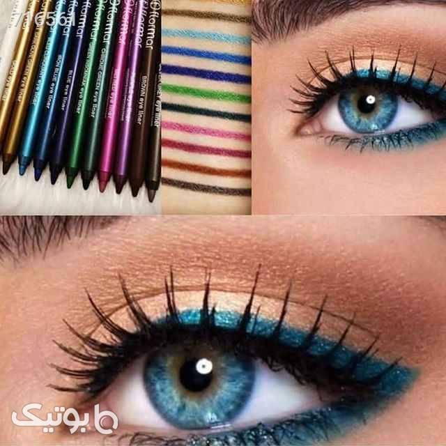 مداد چشم و سایه اکلیلی سبز آرایش چشم