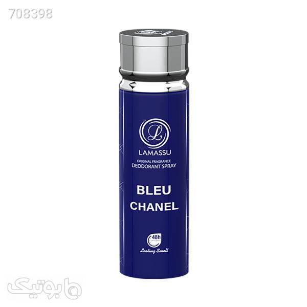 اسپری خوشبو کننده بدن مردانه لاماسو مدل Bleu chanel حجم 200 میلی لیتر مشکی اسپری، مام و خوشبو کننده بدن