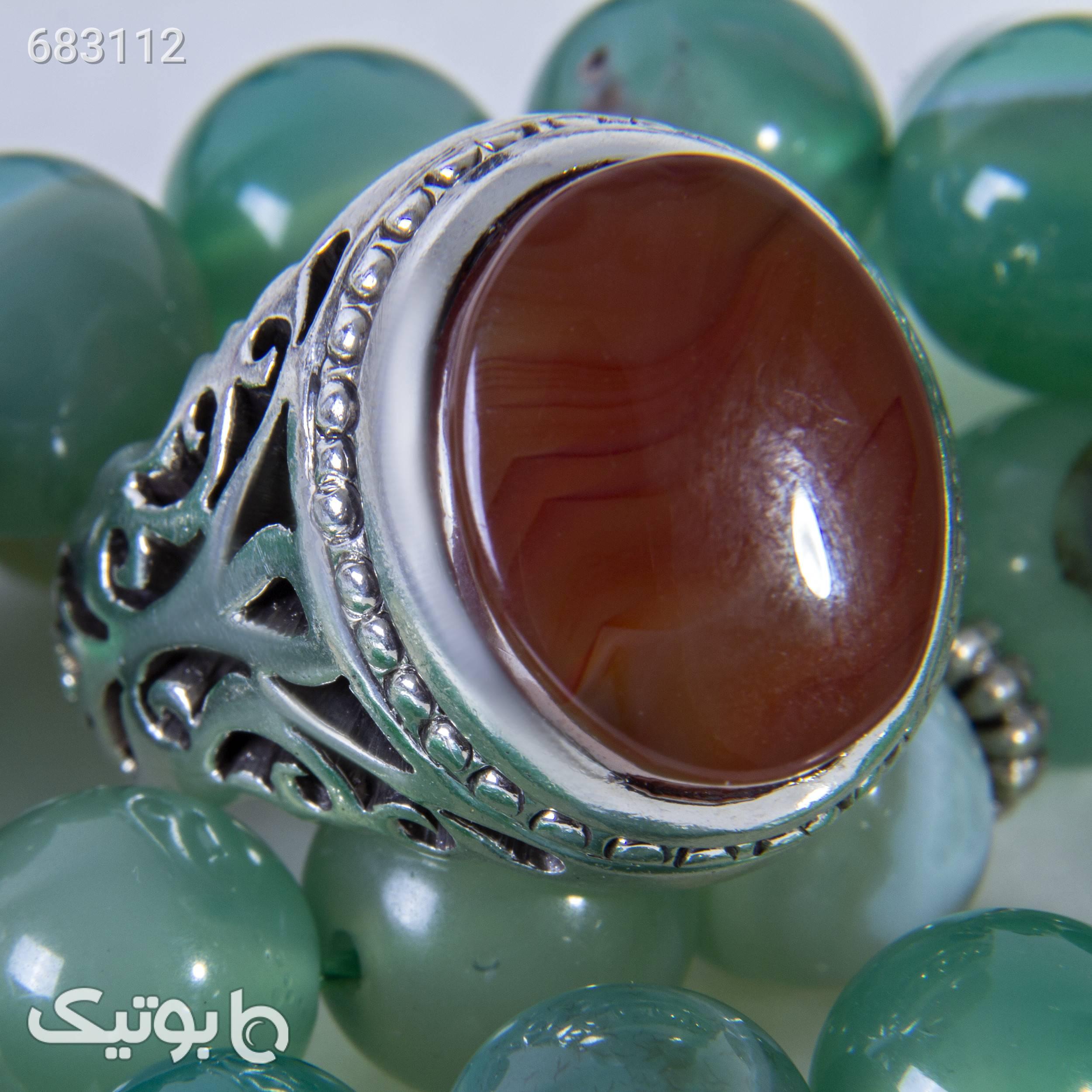 انگشتر نقره مردانه بازرگانی میلادی کدAM_038 نقره ای انگشتر