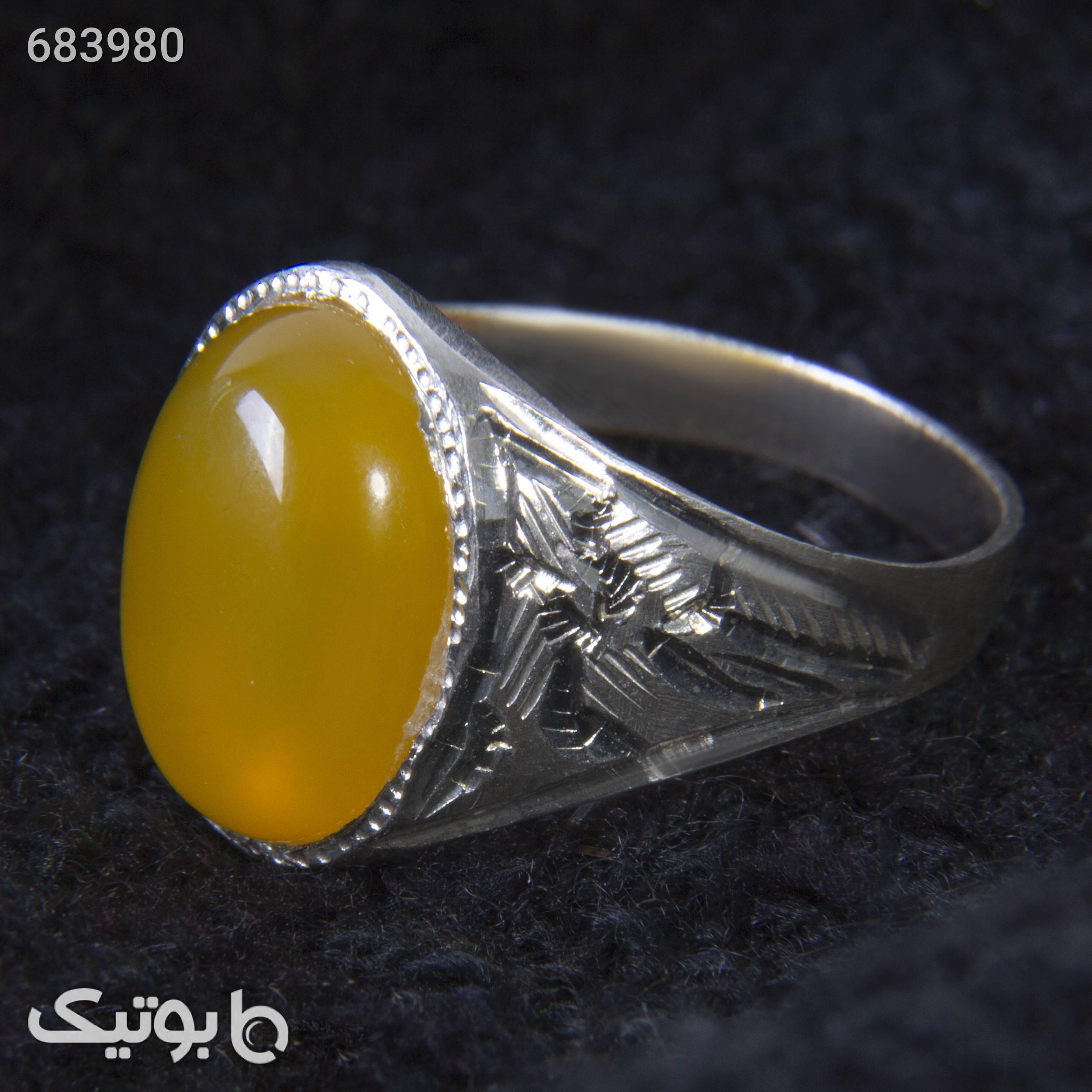انگشتر نقره مردانه بازرگانی میلادی کدAM_080 زرد انگشتر